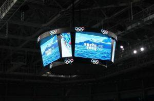 Светодиодный LED Медиакуб для ледовой арены
