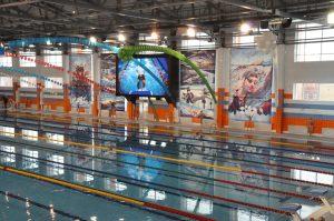 Светодиодный экран для бассейна в защищенном влагозащитном исполнении