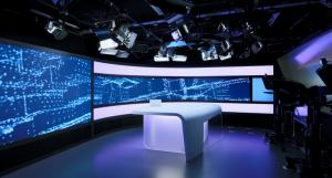 широкоформатный видеоэкран для телестудий