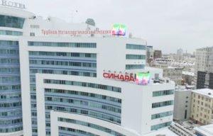 LED видео экран на крышу здания