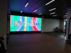 Светодиодный экран для фитнес центра