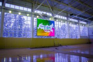 LED экран для спортивного зала